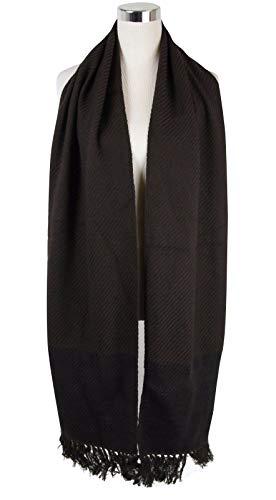 Bottega Veneta Women's Dark Brown Cashmere Leather Long Scarf 298569 2060