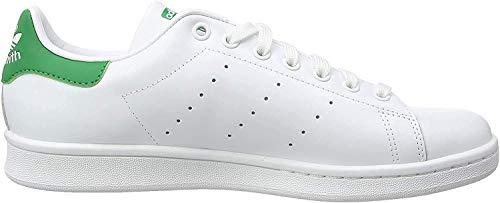 Adidas Originals Stan Smith, Zapatillas bajas para hombre-Blanco / Verde -40 EU (6.5 UK)