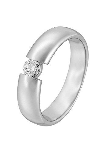 CHRIST Diamonds Damen-Damenring 585er Weißgold 1 Diamant 58 Weißgold 32005704