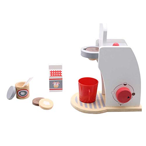 Máquina De Café Juego De Juguetes De Madera, Máquina De Café Juego De Casa De Juguete Para Niños Puzzle Madera Fabricación De Juguetes De Café Desarrollo Educativo