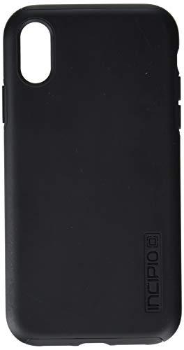 Incipio DualPro Schutzhülle für Apple iPhone XR - schwarz [Extrem robust I Stoßabsorbierend I Soft-Touch Beschichtung I Hybrid I Qi kompatibel] - IPH-1748-BLK