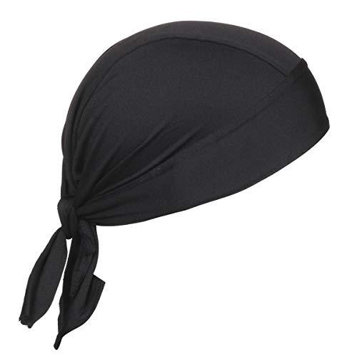 BISMAADH Stretch Lycra 4way Patka/Skull Cap Bandana – Cycling, Riding, Fashionable Helmet Liner Head Cap for Men & Women