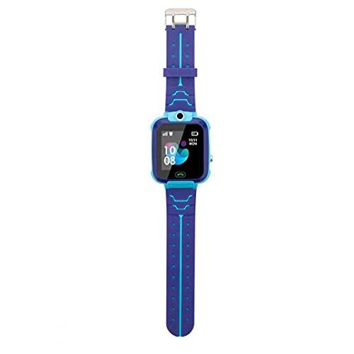 reloj inteligente con el reloj elegante de la pantalla del teléfono inteligente resistente al agua brazalete rastreador táctil reloj deportivo de los niños azules reloj elegante del estudiante