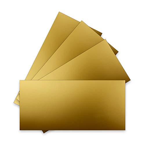 100 Einzel-Karten DIN Lang - 9,9 x 21 cm - 240 g/m² - Hochweiss - Bastelpapier - Tonkarton - Ideal zum Bedrucken für Grußkarten und Einladungen