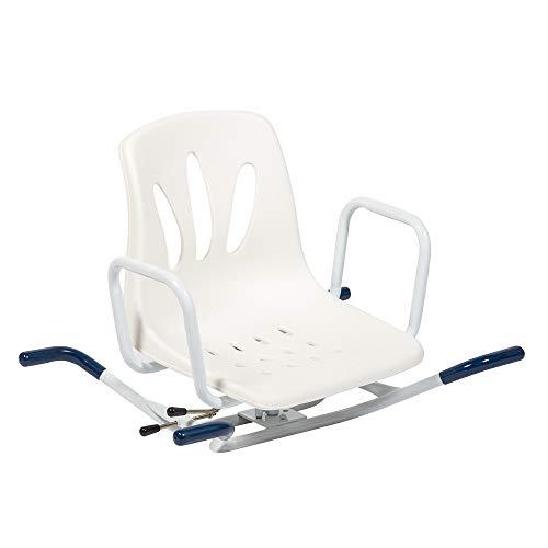 CARELINE AQUASAFE Drehbarer Badewannensitz, für Wannenbreiten bis 70 cm, maximale Belastbarkeit 100 kg