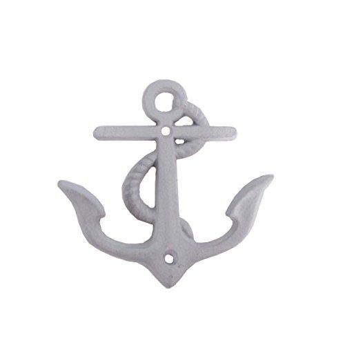 Maritime Deko Garderobenhaken Anker Eisen I Wandhaken I Kleiderhaken I (Blaugrau)