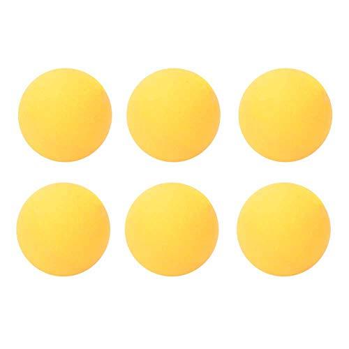 SOONHUA 6 Piezas 40Mm Estándar Duradero PVC Práctica Entrenamiento Ejercicio Ping Pong Tenis Pelotas Amarillo