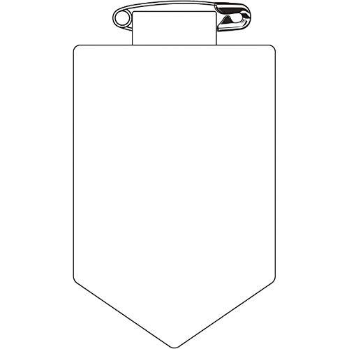 緑十字 ビニールワッペン(胸章) 白無地タイプ 90×60mm エンビ 126101