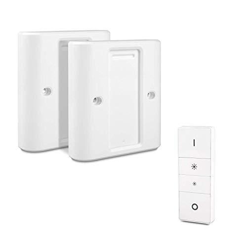 Wandschalterabdeckung kompatibel mit Schalter (2 Packungen), Homegoo Wireless Dimming intelligentes Dimmschalter für EU/UK-Standard Switch Adapter Konverter Abdeckplatte