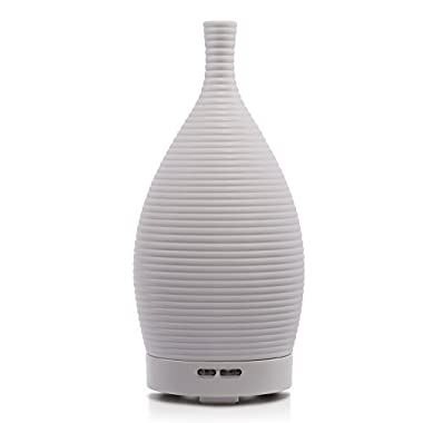 Bbymie BYMIE Ceramic Ultrasonic Aromatherapy Diffuser/Essential Oil Purifier Diffuser Air Humidifier(White)