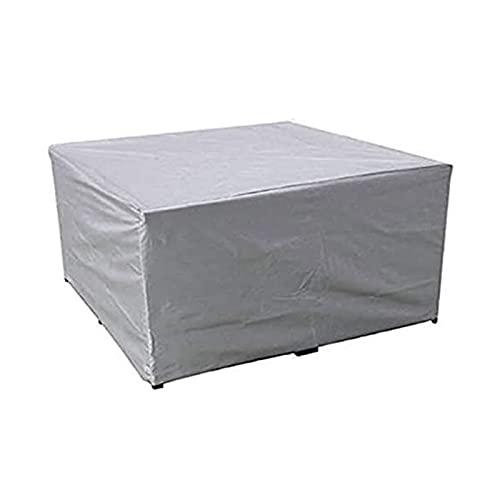 AWSAD Plata Cubiertas para Muebles de Jardín Impermeable Anti-UV Cubierta Mesa Patio Exterior Rectangular Guardapolvo, 31 Tamaños (Color : Silver, Size : 100x100x120cm)