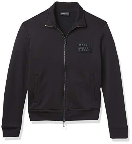 Emporio Armani Unisex-Erwachsene Crew Neck Sweatshirt Hemd, schwarz, Groß