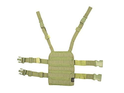 BE-X Beinplatte für modulare Taschen/MOLLE, mit Schnelltrennsystem - Coyote Tan/MJK