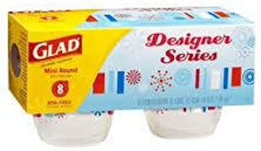 Glad Designer Series Mini Round Containers 8 ct