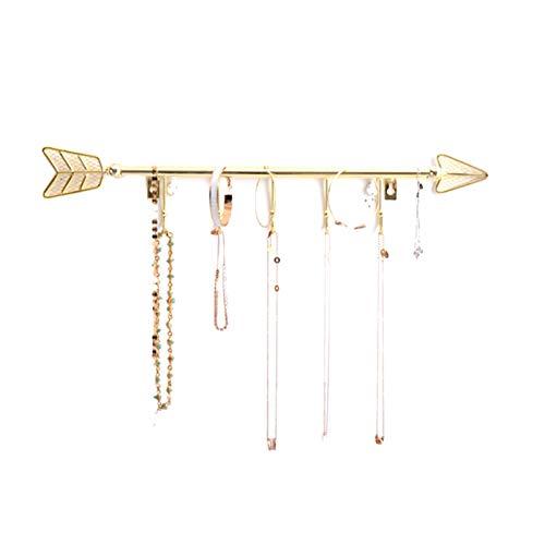 Soportes De Exhibición De Joyería Soporte De Collar De Metal para El Hogar Organizador De Joyas Estante Colgante Regalo De San Valentín para Novia