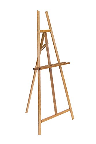 Offex Adjustable Angle Wooden Artwork Display Museum Art Easel - Natural
