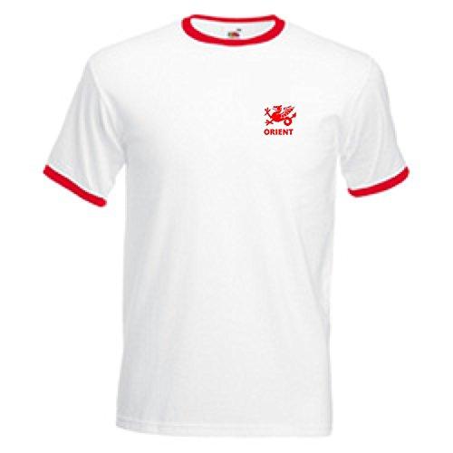 Leyton Orient Style rétro FC Football Team T-Shirt pour adulte-Blanc-Taille XL