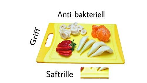 Schneidbrett SET 6 tlg. antibakteriell, 29 x 20 x 0,8 cm, beidseitig verwendbar, 6 Farben - 4