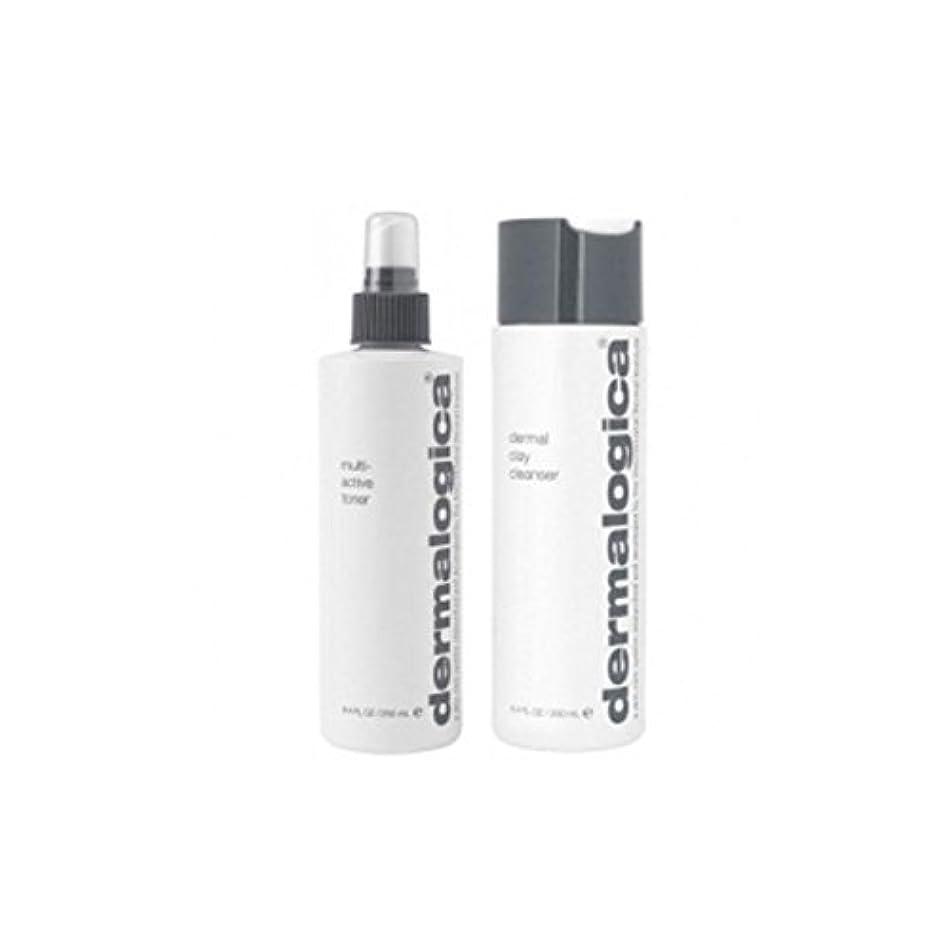 断線クロスペインティングダーマロジカクレンジング&トーンデュオ - 脂性肌(2製品) x4 - Dermalogica Cleanse & Tone Duo - Oily Skin (2 Products) (Pack of 4) [並行輸入品]