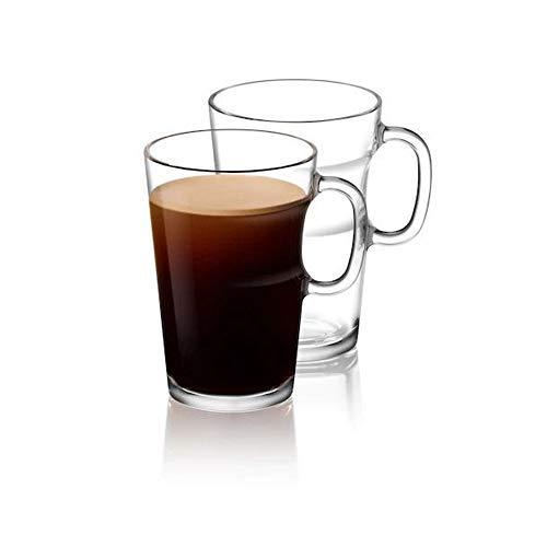 View Set van 2 glazen mokken voor Espresso, Thee, Latte, Cappuccino Drink (ca. 270 ml)