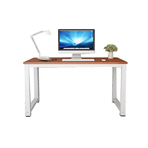 LIZANAN escritorio Escritorio de madera de acero escritorio de la computadora de escritorio simple tabla de la oficina de aprendizaje portátil escritorio minimalista moderna Study Desk escritorio de o