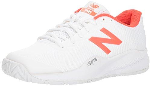 New Balance Women's 996 V3 Hard Court Tennis Shoe, White, 11 B US