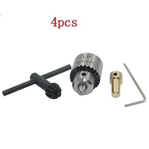 Rlorie 0,3–4 mm Kegelbohrer-Set, Mikro-Motorbohrer, Klemme, Bohrfutterschlüssel, Miniatur-Mini-Bohrer, mit DREI Backen, Kleine elektrische Bohrzange