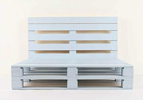Estructura de Sofá Hecha con Palets/Pallets Color Blanco con Respaldo para Interior & Exterior para Patio, Jardín Hecho con Palets de Madera - 2 Plazas
