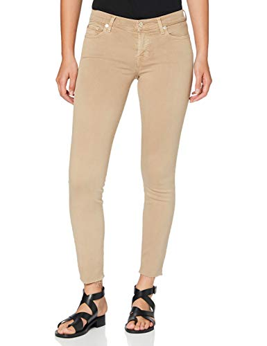 7 For All Mankind Womens Skinny Jeans, BEIGE, 30