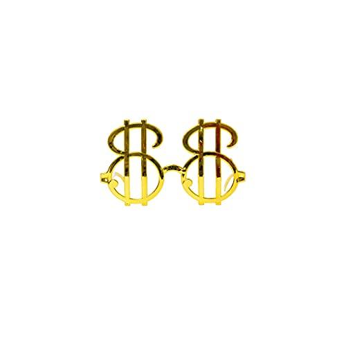 Occhiali da sole a forma di dollaro Occhiali -Hallywood Costume Accessori Compleanno Novità Regalo -Funny Eyewear Fancy Dress Puntelli Molto pratico e popolareDauerhaft Nützlich und praktisch Nette