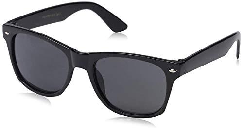 Lionel Messi - Gafas de sol y carcasa con acabado en grafito negro mate, diseño Wayfarer Wayfarer, 100% protección UV