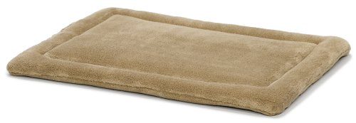 MidWest Homes for Pets Deluxe Micro Terry Pet Bed, Dog Bed & Crate Mat, Taupe
