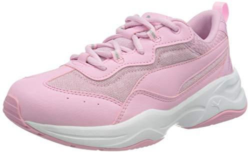PUMA Cilia Mesh Glitter PS, Zapatillas para Niñas, Rosa (Sachet Pink/Sachet Pink White Silver), 33 EU