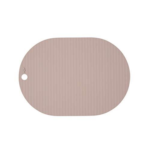 OYOY Living Design 2er Set Ribbo Placemat Rosa (1101062-402) - Platzset Tischset für Erwachsene 100% Silikon Abwaschbar rutschfest - 46x33 cm