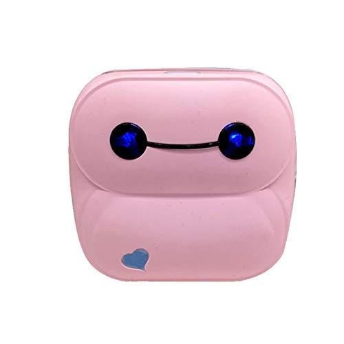 Mini Stampante Fotografica Termica per Foto da Cellulare BlueTooth Senza Fili Immagine Photo Label Receipt Stampante di Carta per Android iOS Smartphone (Rosa)