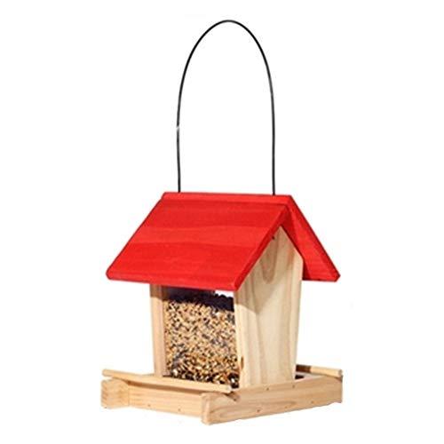 Mangeoire extérieure For l'extérieur des oiseaux Patio Table autoportant Nettoyage facile et Recharges traditionnel en bois oiseaux Feeder Maison design décoration traditionnelle en bois Hanging Outil
