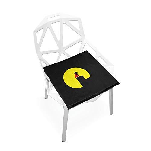 LORONA Superman Ny City Nigh Männer Skyline Sitzkissen Stuhlkissen Memory Foam Pads für gesundes Sitzen zu Hause, Büro, Küche, Rollstuhl, Essen, Patio, Camping | Quadrat 16 'x 16'
