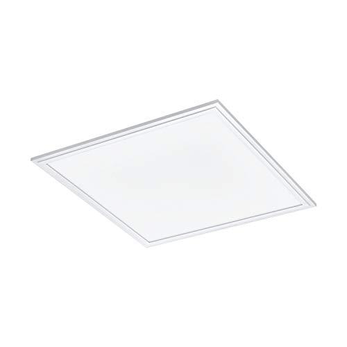 EGLO connect LED Deckenleuchte Salobrena-C, 1 flammige Deckenlampe aus Alu und Kunststoff in Weiß, LED Panel mit Fernbedienung, Farbwechsel (warmweiß – kaltweiß), RGB, dimmbar, L x B 45 cm