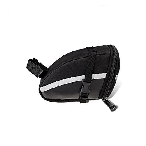 Liadance Montar Bicicleta Saddle Bag PU, Bolso de la Bicicleta, Asiento Trasero de la Bolsa de Almacenamiento, reparación de la Bicicleta Herramienta de Bolsillo con Rayas Reflectantes