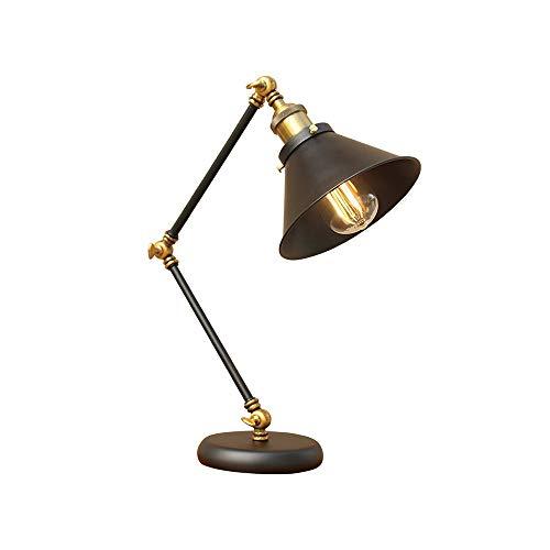 Industrie Vintage-Schreibtischlampe Einstellbare langer Arm Lesetischleuchte Eye-Caring, Touch Control, Vintage antike Tischlampen, dimmbare Schreibtischlampe für Office
