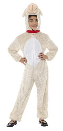 Smiffy's Traje Disfraz de Cordero, niño, 7-9 años