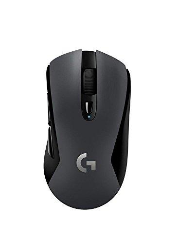 Logitech G603 LIGHTSPEED Ratón Gaming Inalámbrico, Bluetooth o 2.4GHz con Receptor USB, Captor HERO 12K, 12,000 DPI, 6 Botónes Programables, Memoria Integrada, PC/Mac - Negro