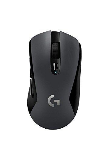 Logitech G603 Lightspeed Ratón Gaming Inalámbrico, Bluetooth o 2.4 GHz con Receptor USB, Sensor Hero, 12000 dpi, 6 Botones Programables, Memoria Integrada, PC/Mac, Negro