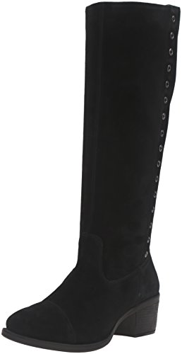 Hush Puppies Women's Ideal Nellie Boot, Black Suede, 6 W US