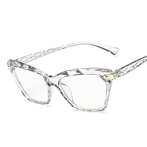 HAOMAO Gafas de ordenador con revestimiento de bloqueo de luz azul con montura de ojo de gato para mujeres y hombres, gafas grises para la fatiga ocular