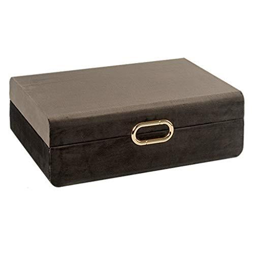 Aufbewahrungsboxen Jewelry Box Dresser Desktop-einlagige Speicher Box Hotel Orte Valuables Ohrringe Armband Halskette 5 Farben Erhältlich (Color : A, Size : 24.5 * 12 * 7cm)