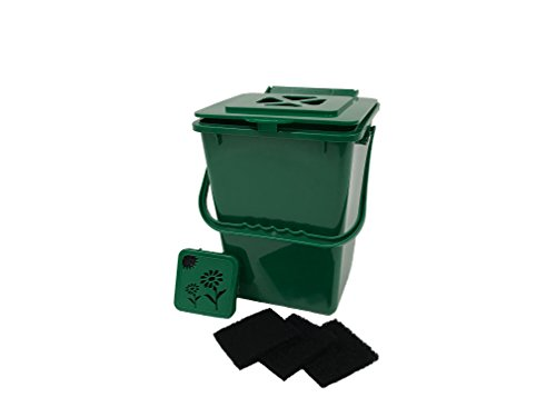 Buy Discount Exaco Trading Co. ECO-2000 Plus Kitchen Compost Waste Collector, 2.4 Gallon, Deluxe Gre...