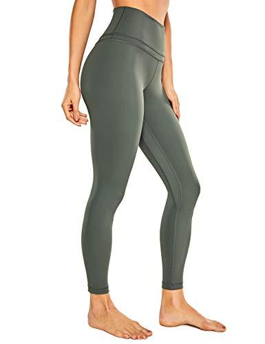 CRZ YOGA Damen Sports Yoga Leggings Sporthose mit Hoher Taille-Nackte Empfindung -63cm Grauer Salbei 38