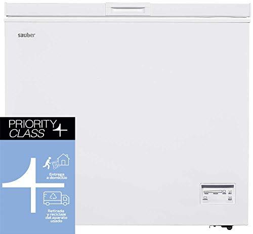 Sauber - Congelador Horizontal SERIE 5-200H - Eficiencia energética: A+ - Ancho: 90,5 cm - 200 litros - Color Blanco