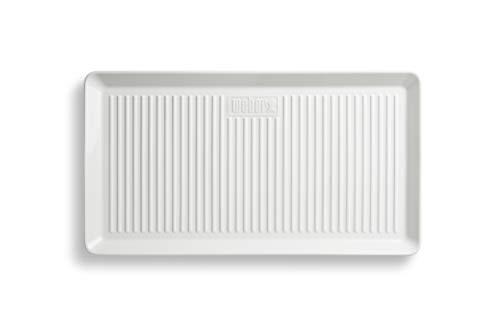 Weber 17884 Porzellan-Servierplatte, 40x22 cm, weiß, langlebig, hält die Temperatur lange